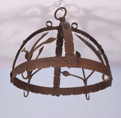 *French Antique Hanging Iron Primitive Butchers Meat Hook/Pot Hanger Rustic
