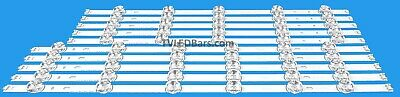 Replacement Backlight Array LED Strip Bar LG 55LB580V 55LB630V 55LF580V 55LB650V
