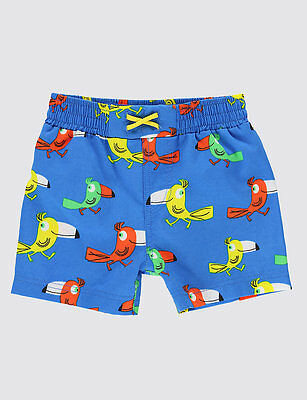 M&S Marks & Spencer Baby - Toucan Print Swim Shorts Age 9 - 12 Months NEW