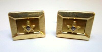 Pair FREEMASONS CUFFLINKS MASONIC SYMBOL 12k Gold Filled KREISLER QUALITY