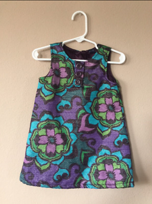 BABY GAP GIRLS PURPLE SPARKLY HOLIDAY DRESS TODDLER DRESS SIZE 18-24 Months