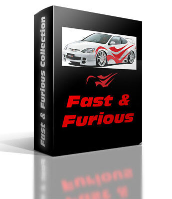 FAST & FURIOUS COLLECTION Vector Clipart for Vinyl Cutters Plotters Stickers
