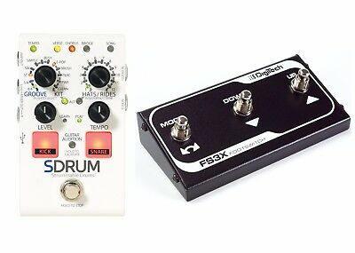 New Digitech SDrum Strummable Drums Guitar Pedal w/ FS3X Footswitch
