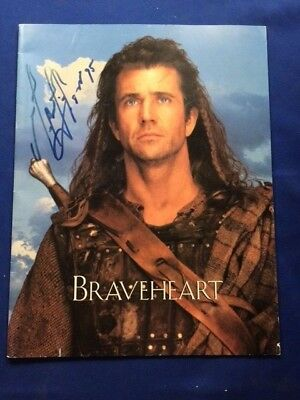 Braveheart: Promotional Program - Signed & Dated By Actor/director Mel Gibson