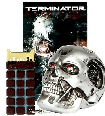 Terminator Endo Skull 1/2 Scale & Genisys Chip Keychain Lootcrate Excl Nip 🎁