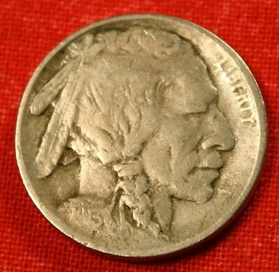 1913-P T-1 Buffalo Nickel Vf Clear Date & Horn Collector Coin Gift Bn165