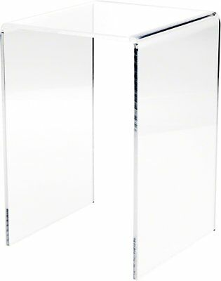 """Plymor Brand Clear Acrylic Tall Square Riser, 10.5"""" H x 7"""" W x 7"""" D 1/4"""" thick"""