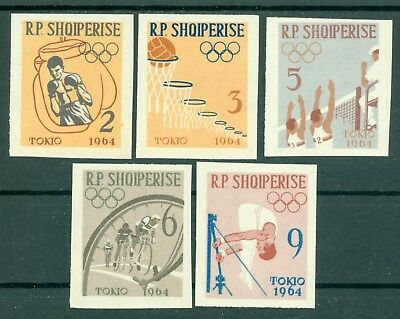 1964 Tokyo Olympics,Basketball,Volleyball,Cycling,Boxing,Gym,Albania,747,IMPERF,