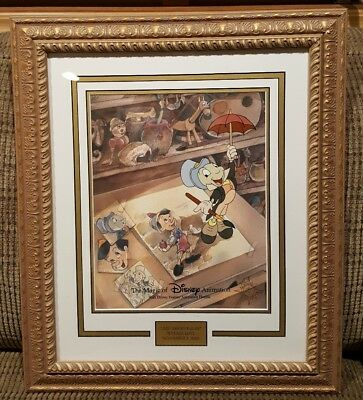 Disney  Cel  The Magic of Disney Animation Art Just Dropping By GOLD PLATE