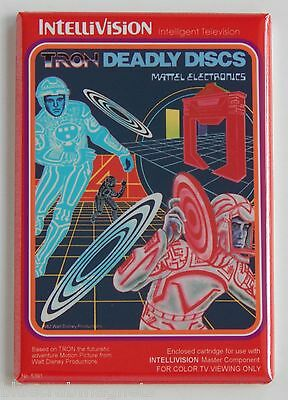 Tron Deadly Discs FRIDGE MAGNET (2 x 3 inches) video game box intellivision