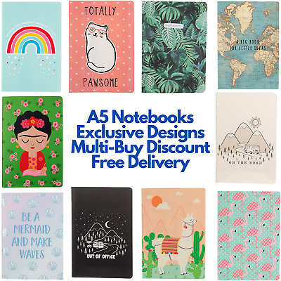 A5 Notebook 40 Sheets/80 Pages Notepad Plain Blank Sheets High Quality GSM Paper