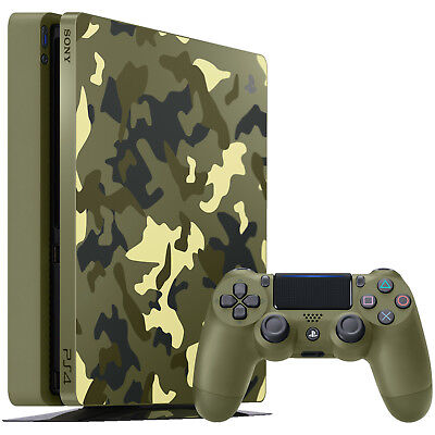 SONY PlayStation 4 1TB Green Camouflage Call of Duty WWII Ltd. Edition