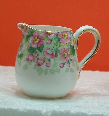 "CROWN STAFFORDSHIRE, FINE BONE CHINA, ""Maytime"" mini Creamer, made in England"