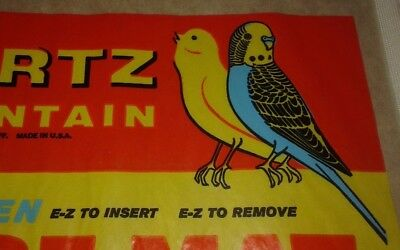 3 Vintage 1950`s-60`s HARTZ MOUNTAIN BIRD CAGE MATS, SEALED PKG. GREAT GRAPHICS!