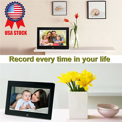 US 15.6'' 1080p LCD Digital Photo Frame Picture MP4 Movie Player Remote Control
