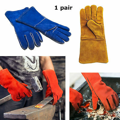 Heat Resistant Leather Stove Fireplace Gloves By Boone Hearth
