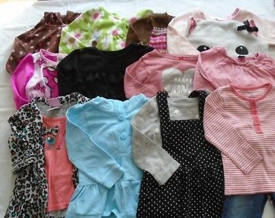Used 20 Pc. Lot Of Baby Girl Clothes 24 Months/2T Euc/vguc