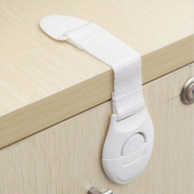 10x Adhesive Child Baby Kids Cute Safety Lock For Door Drawer Cupboard Cabinet