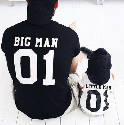 Big Man Little Man Father Son Matching Shirts, Daddy Baby Family Outfits