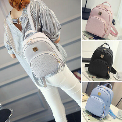 Women Floral Backpack Travel PU Leather Handbag Rucksack Shoulder School Bag LG