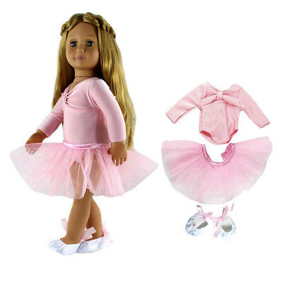 Ballet Dance Outfit Clothes Set for 18inch American Girl Our Generation Doll