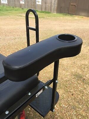 Golf Cart Rear Seat Arm Rest Drink Holder Set/BLACK/No Drilling/EZGO, Club Car+