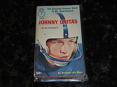 Sport Magazine Library #1 and #2 Paperback Book-Johnny Unitas/Stan Musial Lot