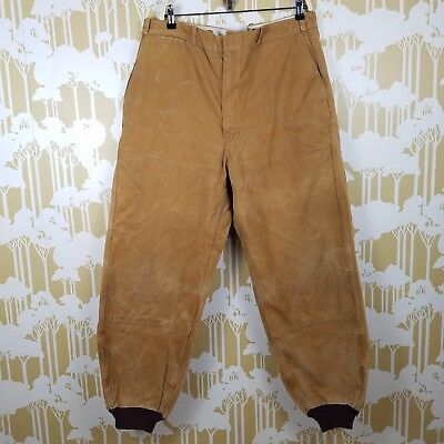 Rare Vintage Hinson Bodyguard Duck Canvas Pants 30's 40's 50's Men's 38 Outdoor