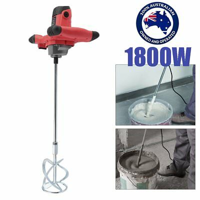 Electric Drywall Mortar Mixer 1800W Plaster Cement Tile Adhesive Render Paint AU