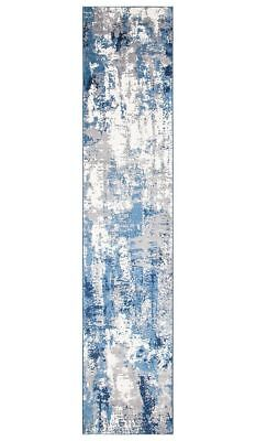 Hallway Runner Hall Runner Rug Blue Cream Carpet New 4 Meter Long Mat Modern