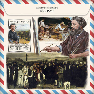 Z08 TG17512b Togo 2017 Great painters of Realism MNH Mint