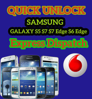 UNLOCK CODE SAMSUNG GALAXY S5 S7 S7 Edge S6 Edge VODAFONE UK UNLOCKING SERVICE