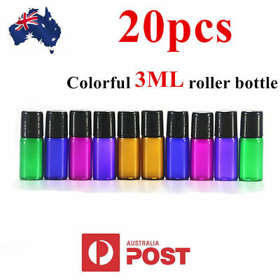3ML 5ML 10ML Mixed Color Roller Ball Glass Bottle Small Perfume Essential Oil