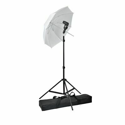 Photo Studio Umbrella Flash Mount Speedlight Stand Set Diffuser Kit Photography