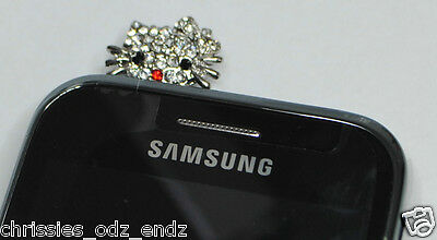 Hello KITTY BLING Crystals Mobile-Anti Dust Plug 35mm - ipad,HTC,Samsung,iphone