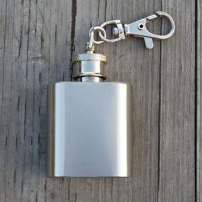 1oz Stainless Steel Hip Flask Pocket Flagon Personalized Liquor Whiskey Tackle.