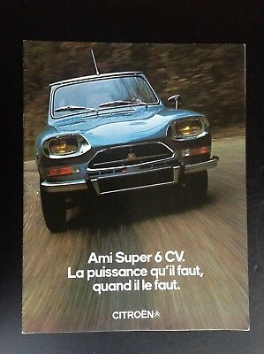 Catalogue Ami Super 6 CV Citroen ETAT NEUF