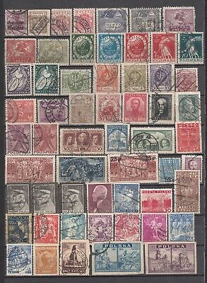Poland 1918-1948 Nice Lot of Used Stamps