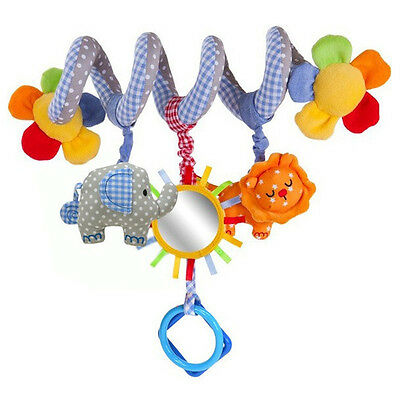 AU Infant Stroller Crib Ring Crinkle Spiral Musical Jingle Bell Rattle Baby Toy