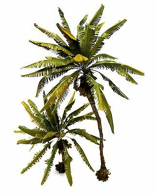 New Coconut Palm Set 1/35 28&16 Cm. Height. Tpv-067 (Realistic Trunk.)