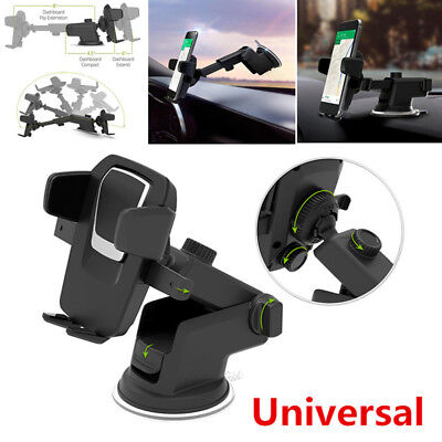 Portable Black Car Windshield Mount Dashboard Holder Suction Cup For Phone GPS