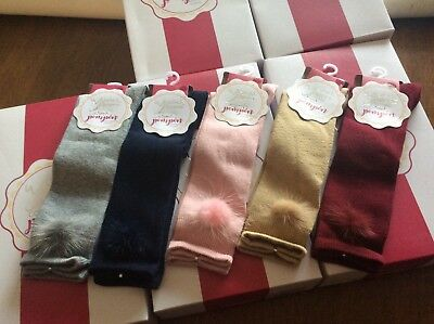 Spanish baby Girls knee high Fur Pom Pom socks  0-6 months 6-12 months available