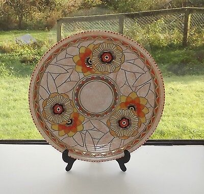 Charlotte Rhead Crown Ducal Rhodian 3272 Charger 32cm Hand Painted Signed
