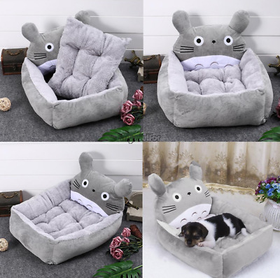 Pet Dog Cat Nesting Bed Totoro Pup Soft Cushion Removable Mat Kennel Indoor
