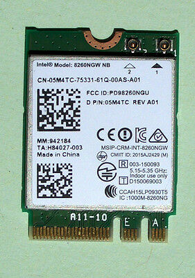 Intel Dual Band Wireless-AC8260 Model:8260NGW NB  802.11ac  M.2 BT 4.0 05M4TC