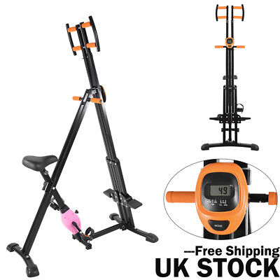 2 in 1 X-bike Mountains Climber Stepper Exercise Fold Fitness Cardio Workout UK
