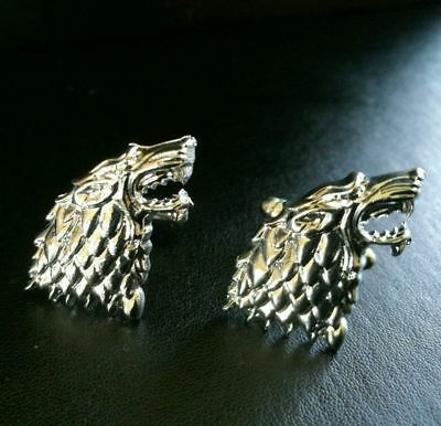 Game of Thrones HOUSE STARK Emblem Sidgel Wolf Cuff Liinks Winter is Coming GOT