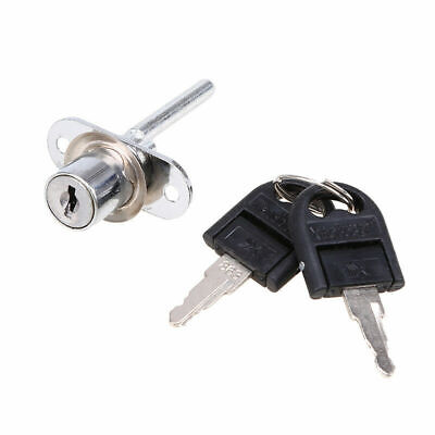 Zinc Alloy Drawer Cam Lock with Two Keys For Cabinet Office Wardrobe Cupboard