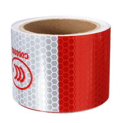 2 inch x 10ft 3 Meters Night Reflective Safety Warning white red Tape Strip P8L3