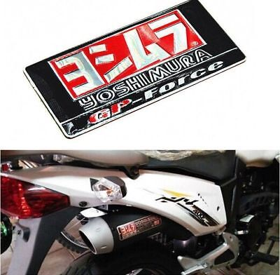 1pc Yoshimura Sticker Aluminium Heat-resistant Motorcycle Exhaust Pipes 3D Decal